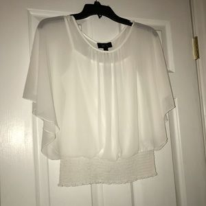 Very pretty and comfortable white blouse